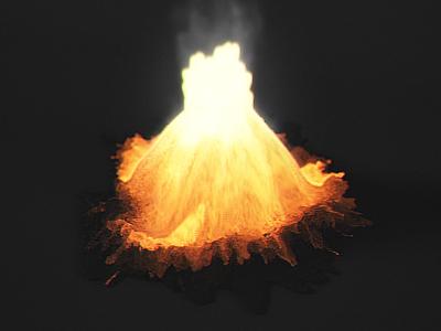 lava sim v02 [still] lava simulation visual effects houdini sidefx particle simulation glow heat shader