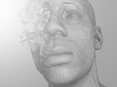 [wip_03] porcelain face head visual effects vfx 3d effect shatter simulation sim porcelain