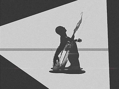 dailies.17042016.kneel splash stab bw man kneel abstract houdini 3d visuals melt vfx effect