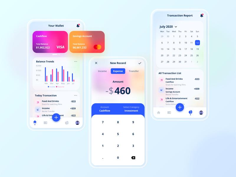 E-Wallet Mobile App Exploration card budget banking bank atm wallet ui walletapp dollar wallets app modern design uiux minimalist ux ui
