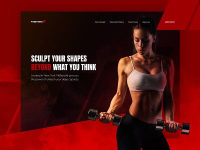 FitBeyond Website fitness web design branding web ui