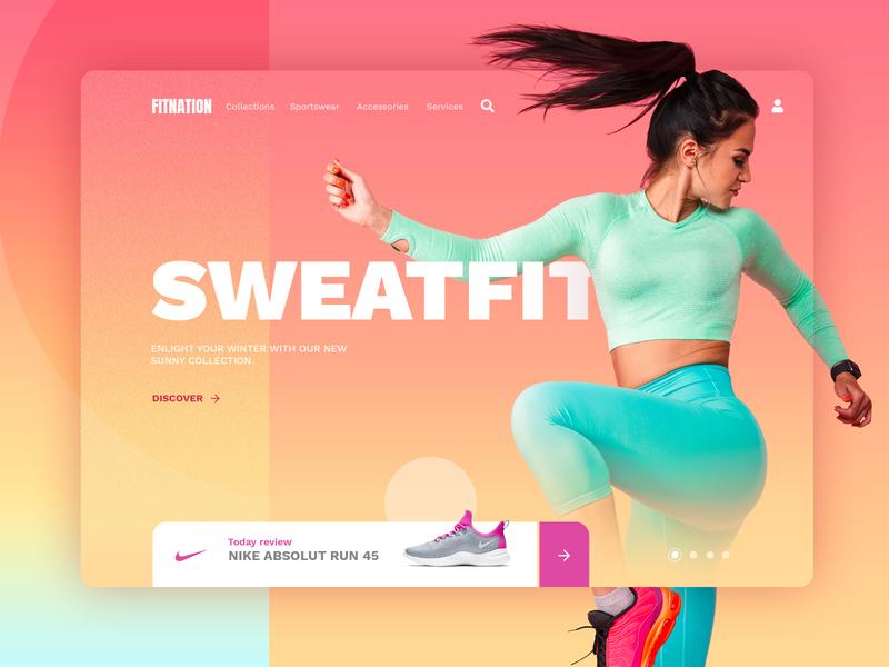 SWEATFIT branding ui ux fitness