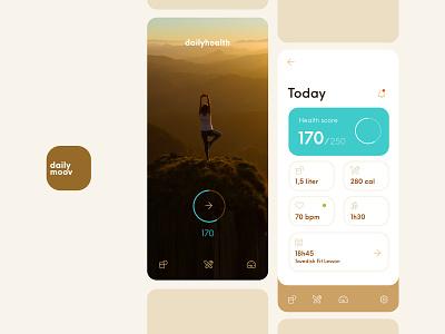 Dailymoov App concept design branding ux ui mobile health