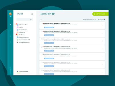 MyPeopleDoc UI-UX Redesign Concept concept ux ui app design product document cloud app