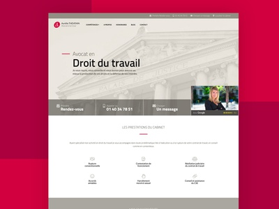 Lawyer Website for A. THEVENIN