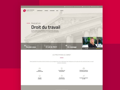 Lawyer Website for A. THEVENIN logo branding ux ui website design website french lawyer