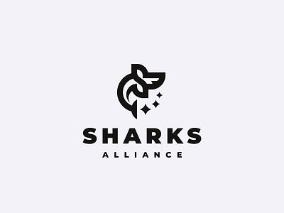 sharks concept logo shark