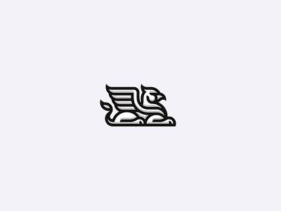 Griffin lion concept eagle dragon gryphon logo griffin