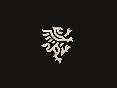 Gryphon dragon eagle concept gryphon logo