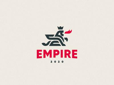 Empire dragon gryphon leo logo