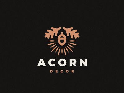 Acorn decor oak acorn logo