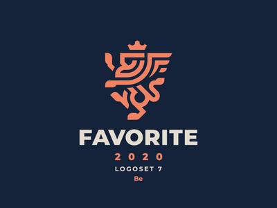 Favorite dragon gryphon leo logo