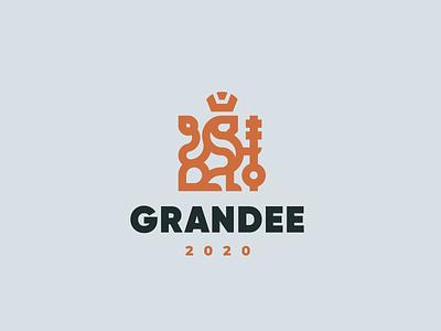 Grandee leo lion logo