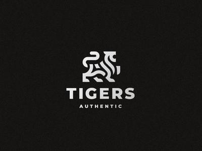 Tigers cat tiger logo