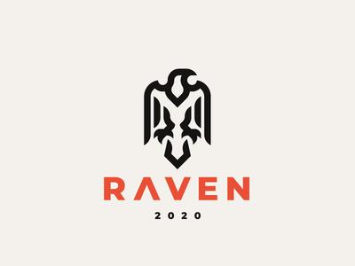 Raven crow raven logo