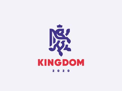 Kingdom griffin gryphon leo concept lion logo
