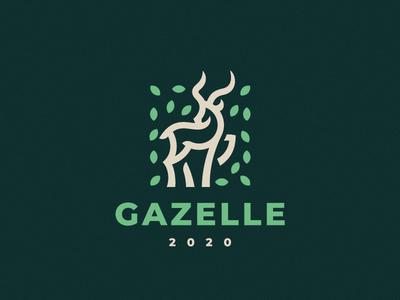 Gazelle antelope logo