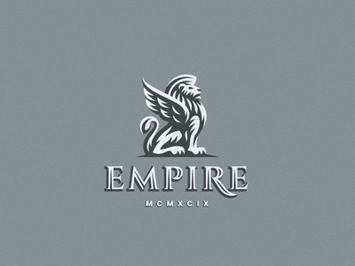 Empire gryphon leo lion logo