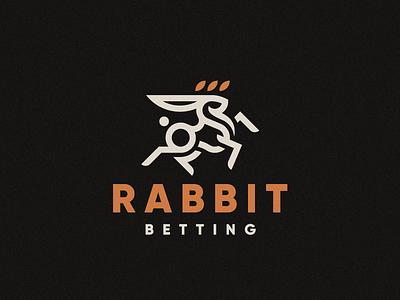 Rabbit bunny concept logo rabbit