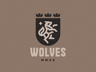 Wolves wolves wolf concept logo