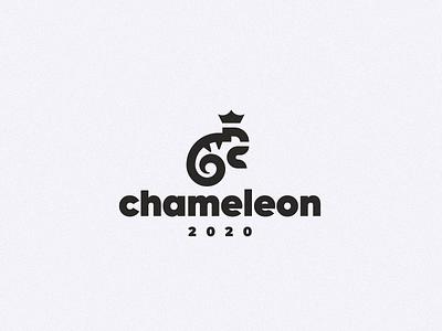 chameleon lizard concept logo chameleon
