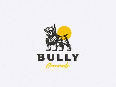 Bully concept logo toy robot dog bulldog