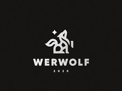 Wolf werwolf concept wolf logo