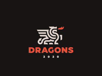 Dragons concept logo dragon
