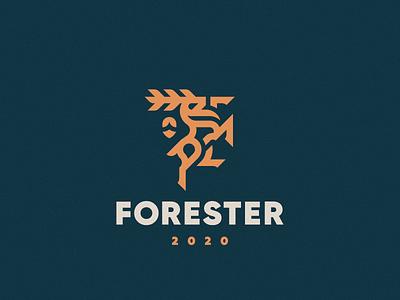 Forester stag forester deer concept logo