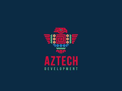 Aztech concept eagle bird aztec logo