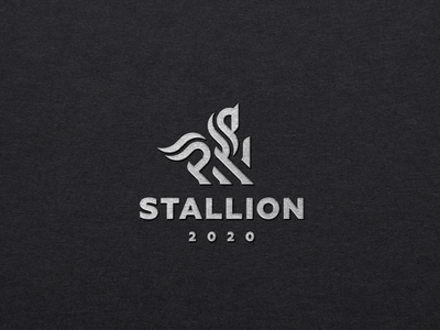 Stallion stallion horse concept logo