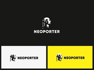 NEOPORTER head concept logo