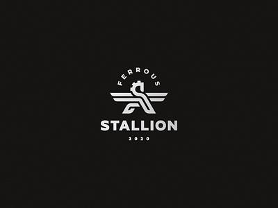 Horse pegasus logo horse