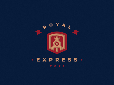 Royal Express locomotive steam logo train