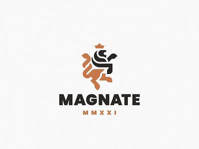 Magnate king leo lion logo