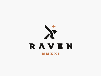 Raven eagle raven bird logo