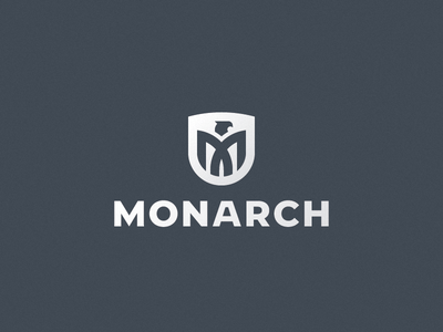Monarch eagle bird logo