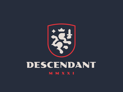 Descendant crest leo lion logo