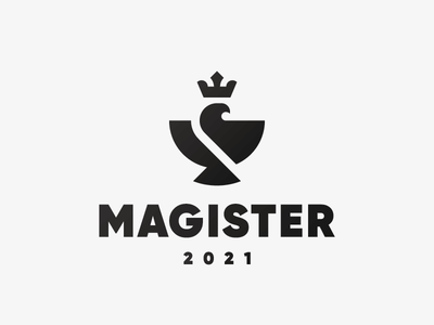 Magister eagle bird logo