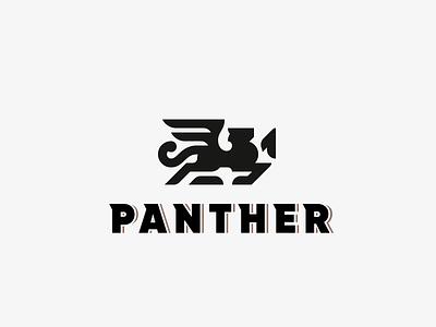 Panther panther lion logo