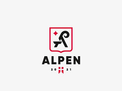 Alpen goat alpine alps logo