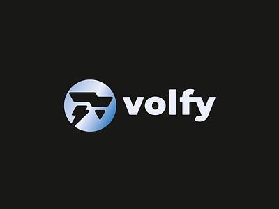 Volfy dog wolf logo