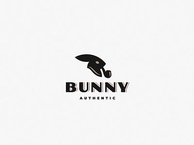 Bunny rabbit bunny logo