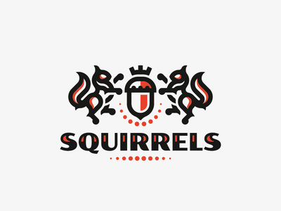 Squirrels crest squirrel logo