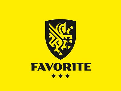Favorite crest pegasus horse logo