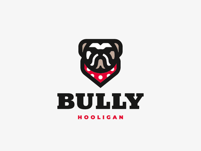 Bully bulldog dog logo