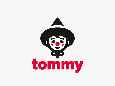 tommy clown boy logo