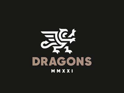 Dragons dragon gryphon eagle logo