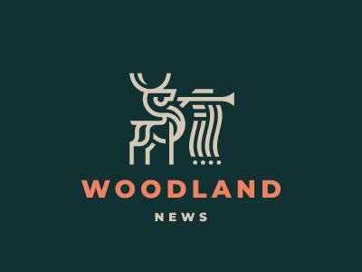 Woodland news deer logo