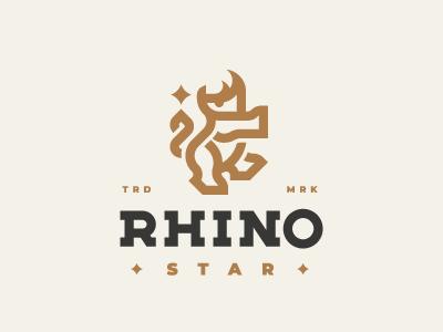 Rhino concept logo rhino